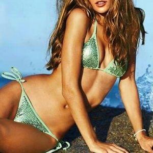 VS 🌴 Sequin Mermaid String Bikini Shimmery Small